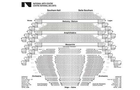 Pavilion Floor Plans by Seating Plans National Arts Centre