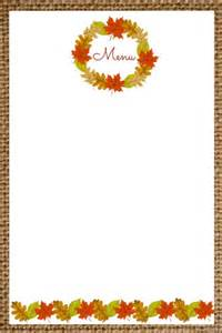 Blank Menu Templates Free by Progressive Thanksgiving Dinner And Free
