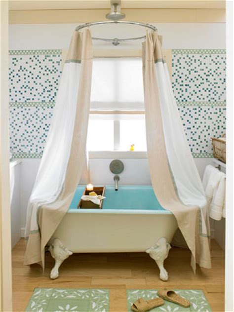 hanging shower curtain from ceiling smallrooms