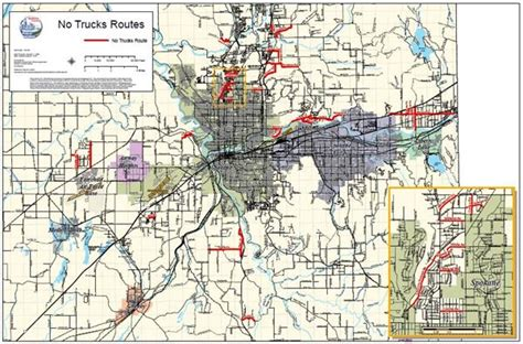 Spokane County Records No Truck Routes Map Spokane County Wa