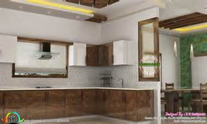 Kitchen Room Interior Design dining kitchen living room interior designs kerala home design and