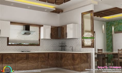indian kitchen interiors dining kitchen living room interior designs kerala