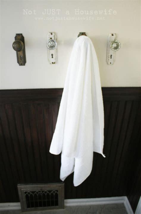 bathroom door hooks for towels bathroom reveal not just a housewife