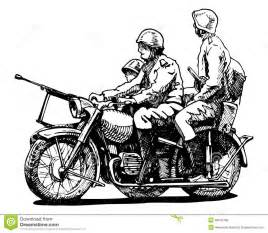military motorcycles royalty free stock photo image