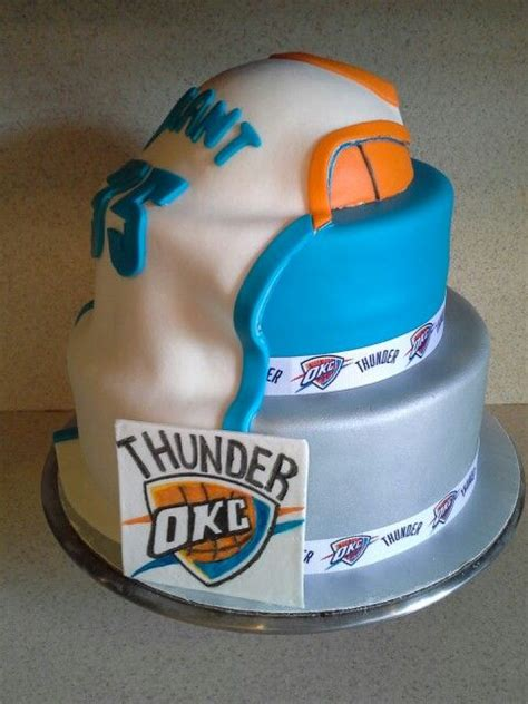 thunder cake okc thunder cake cakes cakes thunder and