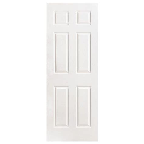 hollow core interior doors home depot masonite 32 in x 96 in 6 panel left handed hollow core textured primed composite single
