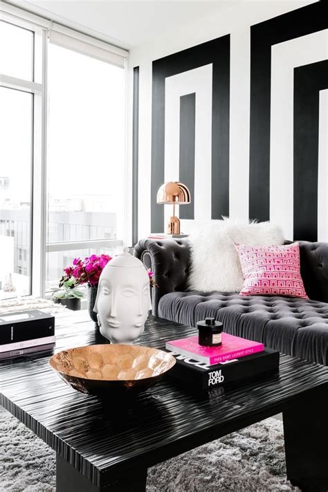 black and white living room decor ideas trend alert a luxury version of black white minimalism
