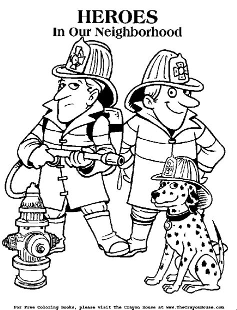 Thank You Fireman Coloring Pages by Firefighter Coloring Pages For Az Coloring Pages