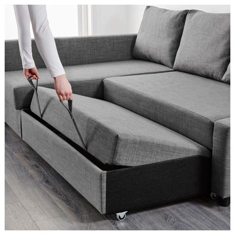 Friheten Corner Sofa Bed With Storage Skiftebo Dark Grey Sofas And Sofa Beds