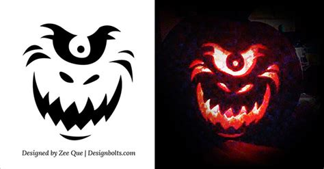 free printable scary pumpkin carving pattern designs 10 free scary cool pumpkin carving stencils