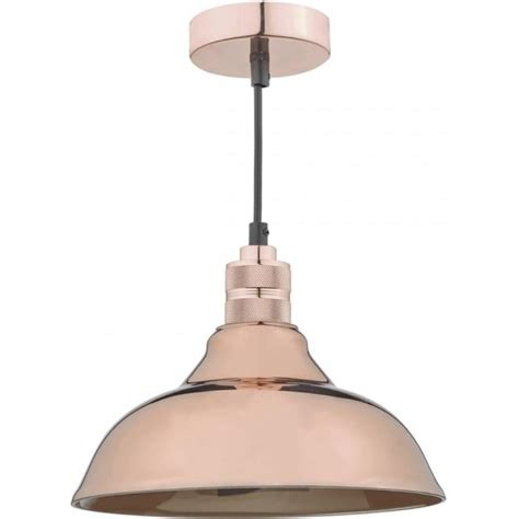dar lighting easy fit ceiling fitting in copper