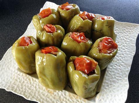 turkish style stuffed peppers biber dolmasi