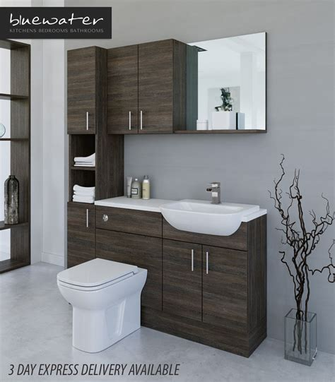 mali wenge bathroom fitted furniture 1500mm with wall