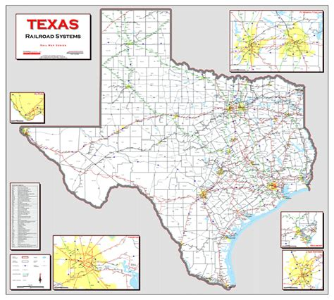 texas rail map deskmap systems printed railroad maps geographical information systems
