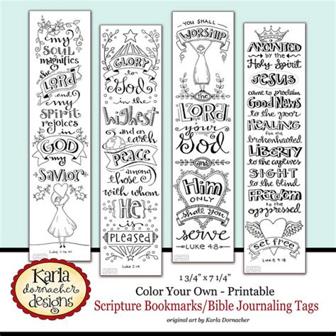 bible bookmark template luke 1 4 color your own bible bookmarks bible journaling tags