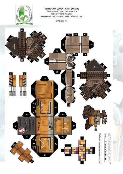 Wall E Papercraft - activitad t i jornada tarde 6 wall e