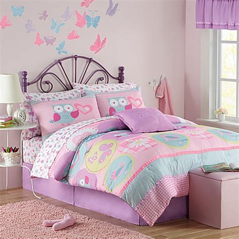 bed bath and beyond girls bedding hannah twin bedding set in pink bed bath beyond