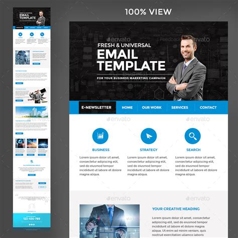 Multi Purpose Newsletter Template 3 Designs By Hyov Graphicriver Multi Page Newsletter Templates