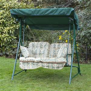 Outdoor Swing Cushions With Backs Alfresia Luxury Garden Swing Seat Cushions 2 Seater Ebay