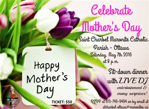 Mothers Day Poster Mother S Day Bash Ottawa Charbel