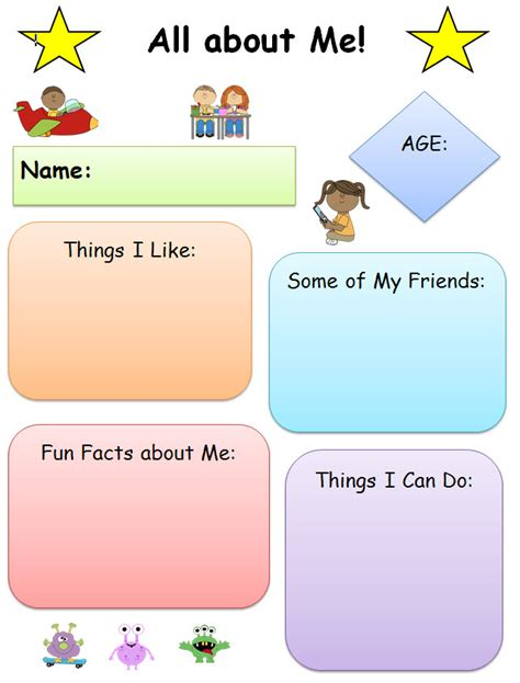 All About by All About Me Common Graphic Organizer K 5 Computer Lab