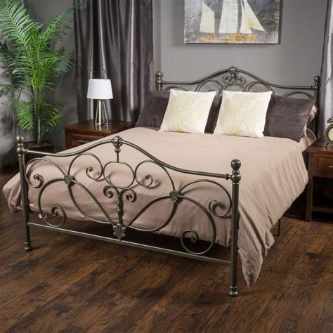iron bed frame queen denise austin home san luis queen chagne iron bed ebay