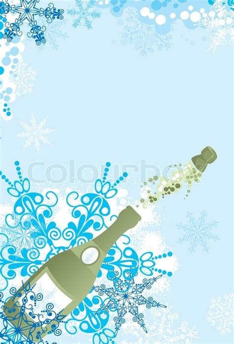 weihnachten in einer berghütte weihnachten funken einer chagner vektor illustration