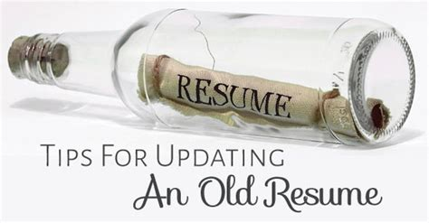 Update Resume Tips by 15 Tips For Updating An Resume Rev Up Your Career