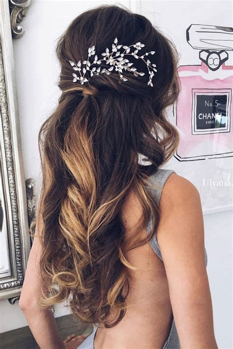 hairstyles down for wedding guest 20 amazing half up half down wedding hairstyle ideas