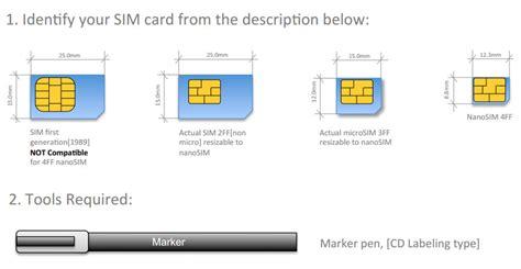 Sim To Nano Sim Template by Template Untuk Membuat Nano Sim C1p1