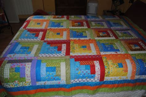 patchwork log cabin colcha log cabin patchwork colchas