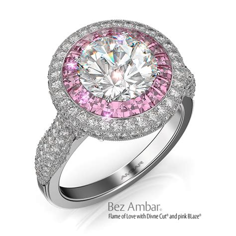 Pink Engagement Ring by Halo Engagement Ring Pink Sapphire Of