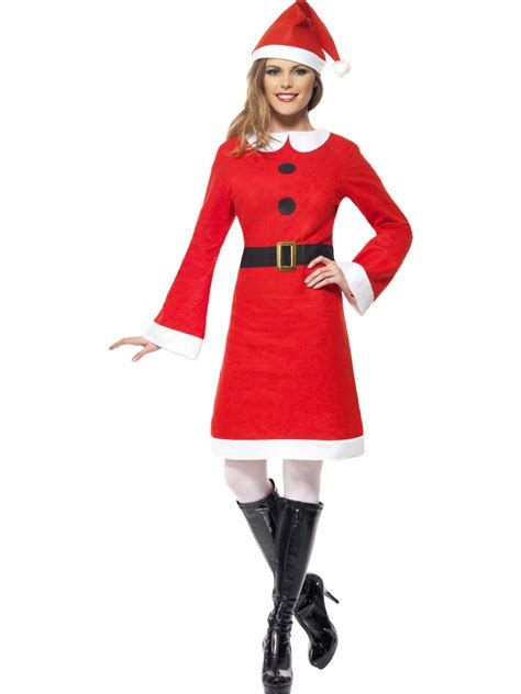 adult miss santa costume 26965 fancy dress ball