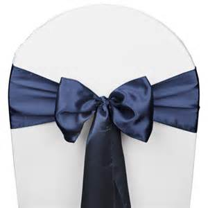 Navy Blue Chair Sashes Navy Blue Satin Wedding Chair Sash 5 Pk Smarty Had A Party
