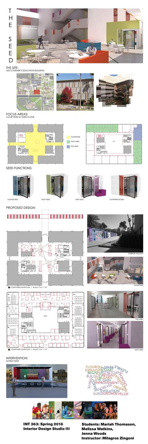 interior design undergraduate student work