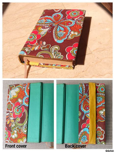 pattern fabric book cover tutorial no 9 adjustable fabric book cover d i y