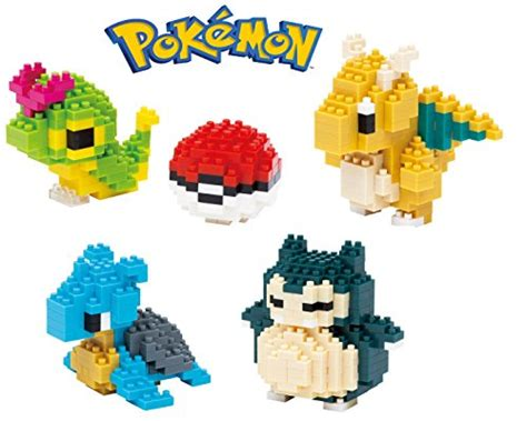 Loz Lego Nanoblock Newtwo new 12 pack of pocket loz nanoblock wise hawk pikachu squirtle bulbasaur