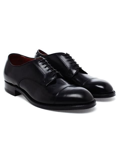alden oxford shoes lyst alden cordovan blucher oxford shoes in black for
