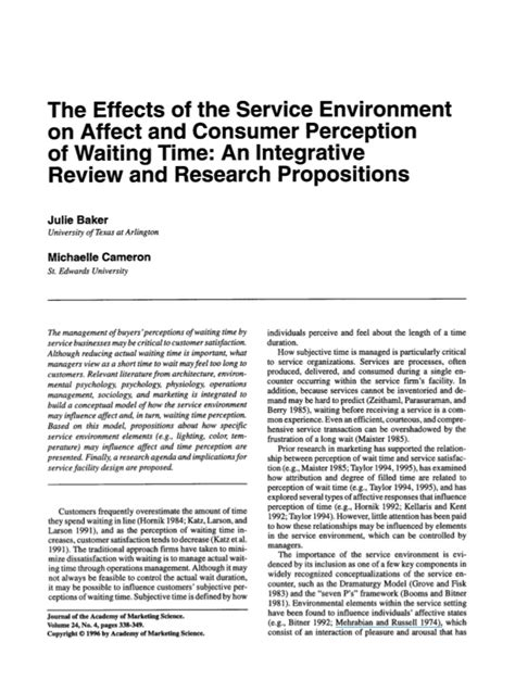 Perception Of Detox Diets Research Revie by The Effects Of The Service Environment On Affect And