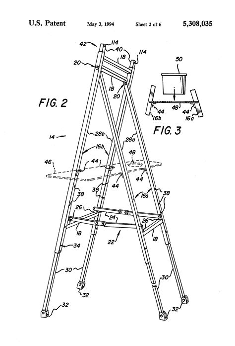 bob ross painting easel patent us5308035 adjustable artist s easel patents