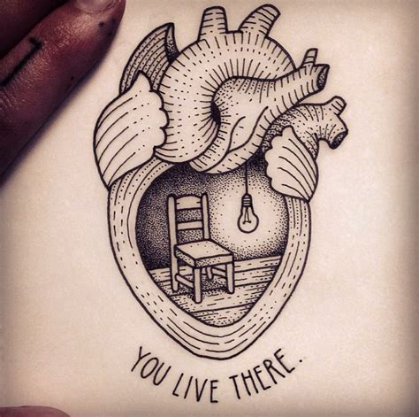 heart tattoo drawing by susanne konig