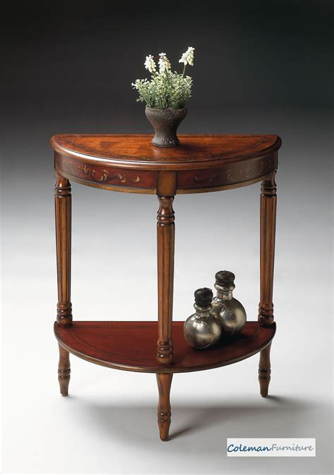 cherry demilune console table cherry demilune console table from butler 889176
