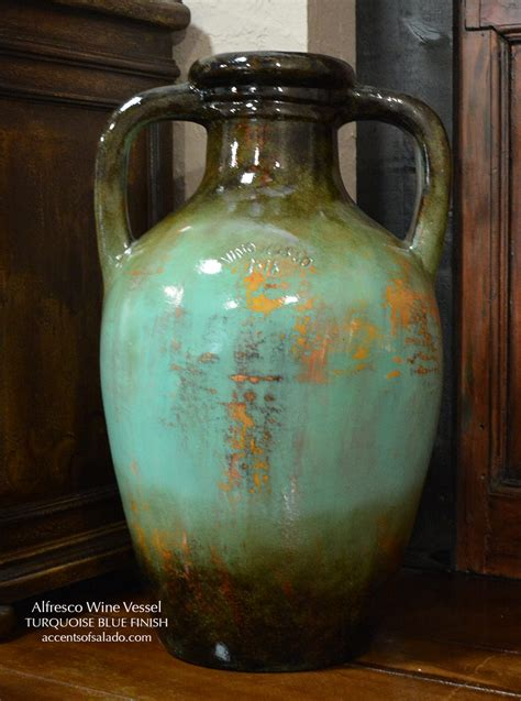 Tuscan Floor Vase by Alfresco Large Wine Vessel