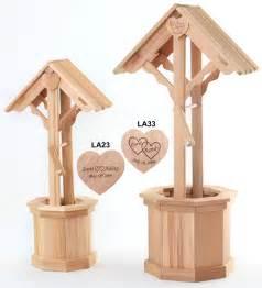 Wooden wishing wells by all things cedar wedding furniture
