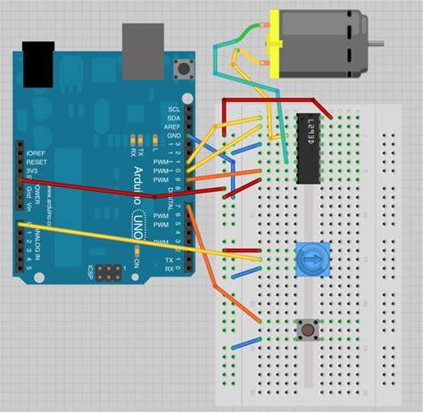 arduino code for dc motor breadboard layout arduino lesson 15 dc motor reversing