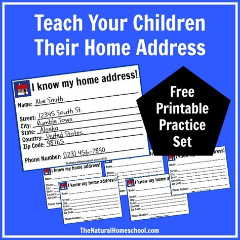 free my home address lesson printables money saving 174