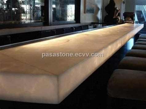 Translucent Bar Top Translucent Alabaster Panel For Bar Top Application