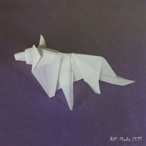 Wolf Origami - wolf origami by jdarenas on deviantart