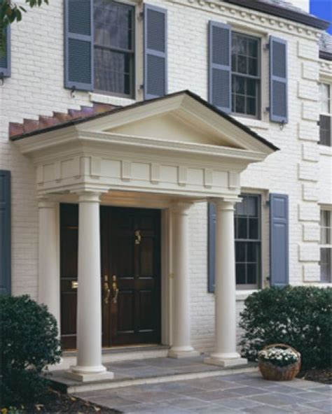 home exterior design with pillars front door pillars traditional exterior dc metro by pagenstecher