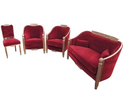 art deco sofa and chairs elegant french art deco settee and chairs by paul follot
